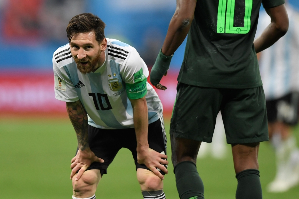 9122fbaa1 Messi delivers as Argentina scrape through to World Cup s last 16 ...