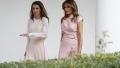 الصورة: Melania Trump and Queen Rania of Jordan twinned in pink for White House visit