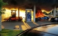 الصورة: Lamborghini destroyed in gas station mishap