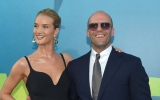 Photo: Jason Statham and Rosie Huntington-Whiteley at The Meg premiere