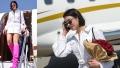 الصورة: Dua Lipa steps off her plane in hot pink knee-high boots