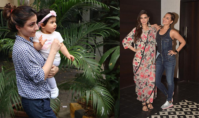 Spotted: Sonakshi Sinha, Soha and Inaaya...