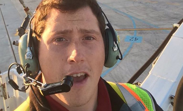 Richard B Russell, a ground service agent at the Seattle-Tacoma International Airport, who stole a plane and flew it for about an hour on August 10 before crashing on an island south of Seattle. (AFP)
