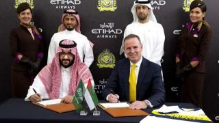 الصورة: Etihad Airways, Al Nassr FC announce partnership
