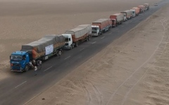 الصورة: UAE sends 17-truck convoy laden with 12,000 food baskets to AD-duraihmi, Yemen