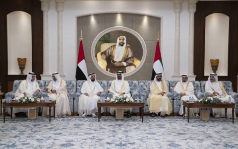 الصورة: Mohamed bin Zayed receives Eid Al Adha well-wishers at Mushrif Palace