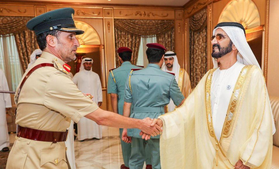 الصورة: Sheikh Mohammed receives Eid Al Adha well-wishers