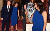 Photo: UK's Prince Harry and Meghan attend mental health charity concert