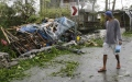 Photo: Typhoon lashes south China after killing 28 in Philippines