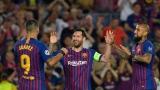 الصورة: Messi scores hat-trick as Barcelona thrash PSV