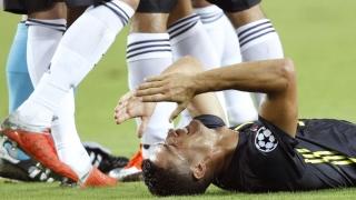 الصورة: Ronaldo sent off in 1st Champions League game with Juventus