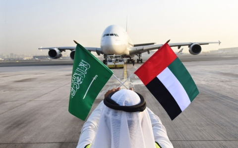 الصورة: Emirates celebrates Saudi National Day with special one-off A380 flight to Riyadh