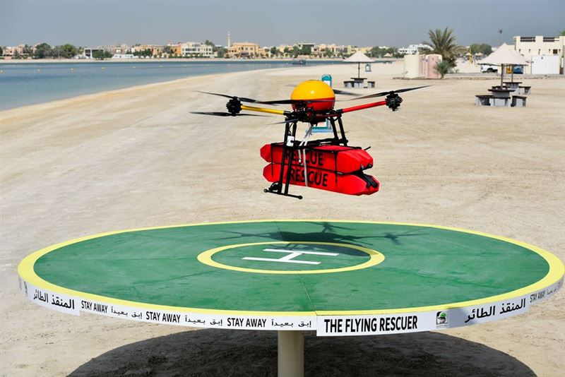 Dubai Municipality launches Flying Rescuer drone for beach rescue