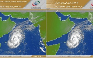 Photo: No direct effect on UAE from tropical storm Luban for next five days: NCM