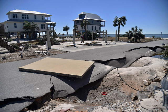 View of the damaged caused by Hurricane Michael in Mexico Beach, Florida. (AFP)