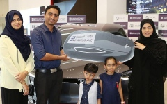 Photo: Indian national wins a Tesla with Emirates Islamic's Kunooz savings account