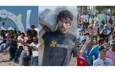 Photo: Hamdan bin Mohammed challenges society to join Dubai Fitness Challenge 2018
