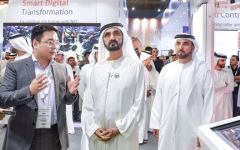 Photo: Sheikh Mohammed tours GITEX 2018