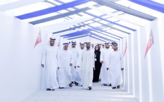Photo: Sheikh Mohammed reviews Route 2020 Stations construction progress