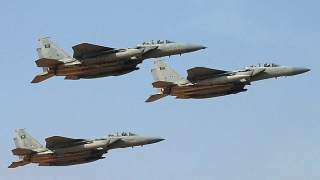 Photo: Saudi Air Force plane crashes during training mission