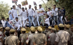 Photo: India's accused minister files defamation suit amid protests