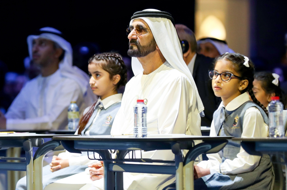 Photo: Mohammed bin Rashid launches 'Madrasa', largest free Arabic e-learning platform
