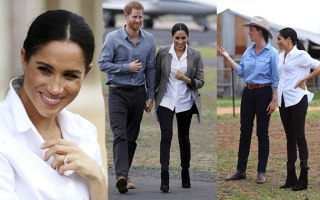 Photo: Harry and Meghan 'gift' rain to drought-stricken Aussie outback
