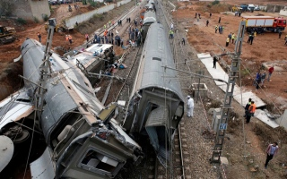 Photo: At least 6 killed as train derails in Morocco