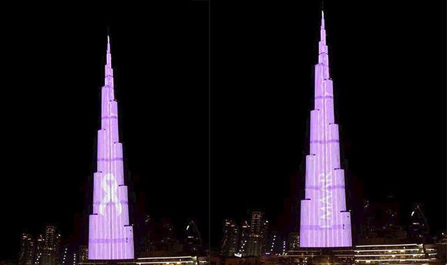 Burj Khalifa illuminates in pink to raise awareness about breast cancer