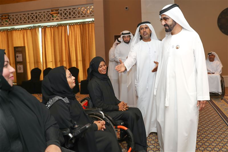 Photo: Sheikh Mohammed receives UAE Paralympics team