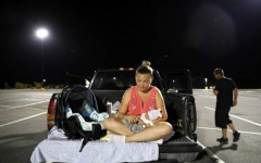 Photo: Baby born after Michael starts life in parking lot