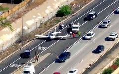 Photo: Plane makes emergency landing on Southern California freeway