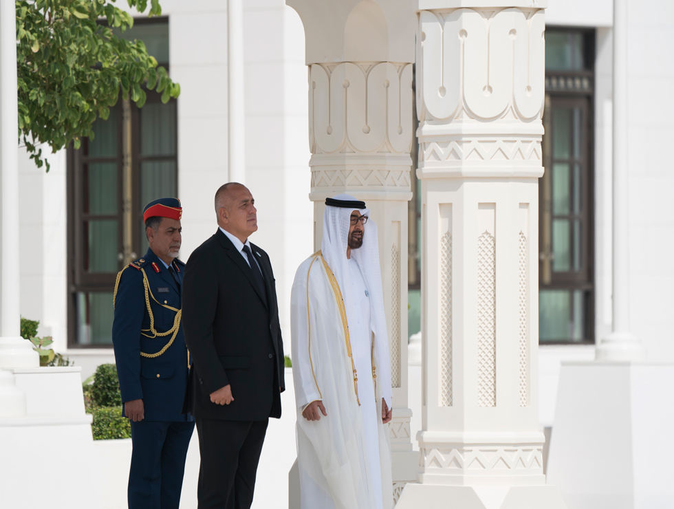 Mohamed bin Zayed receives Bulgarian PM