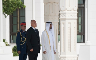 Photo: Mohamed bin Zayed receives Bulgarian PM