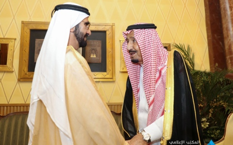 Photo: Saudi King receives Mohammed bin Rashid