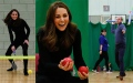 Photo: William and Kate join children for a tennis game at Essex