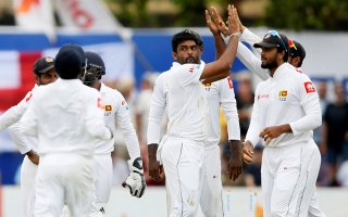 Photo: Sri Lanka 203 all out in 1st England Test