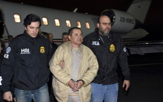 """Photo: US trial to tell epic tale of Mexican drug lord """"El Chapo"""""""