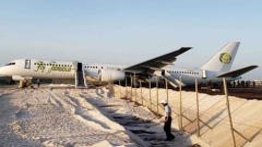 Photo: Jet overshoots runway in Guyana, several injured