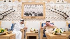 Photo: King Salman, Mohamed bin Zayed discuss regional developments