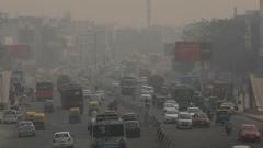 Photo: A window into the deadly pollution in New Delhi
