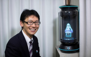 Photo: Crazy in love? The Japanese man 'married' to a hologram