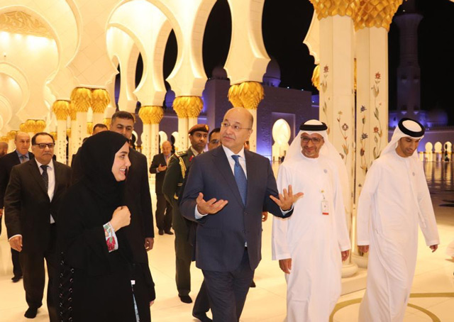 Photo: President of Iraq visits Sheikh Zayed Grand Mosque