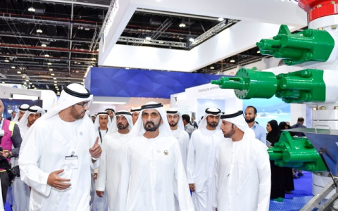 Photo: Sheikh Mohammed visits ADIPEC 2018