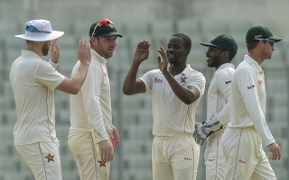 Photo: Zimbabwe strike but Bangladesh ahead in second Test