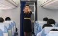 Photo: Air stewardess solution for complainer