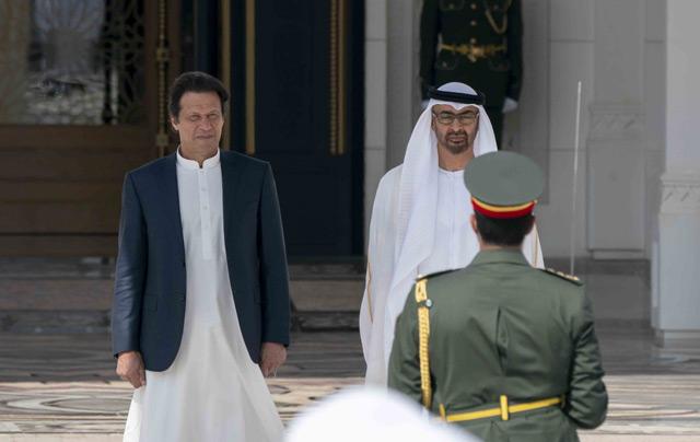 Abu Dhabi Crown Prince receives Pakistani Prime Minister