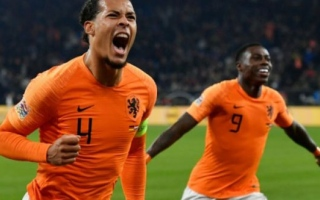 Photo: Van Dijk late strike fires Dutch into Nations League semis