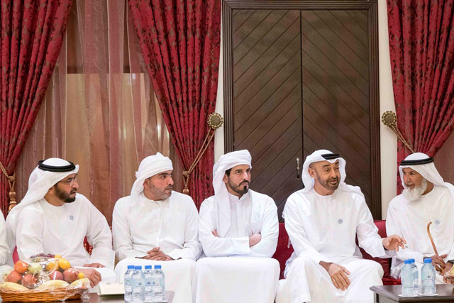 Photo: Mohamed bin Zayed offers condolences on death of Mohammed Saeed Al Mansouri