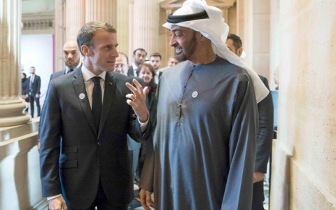 Photo: Mohamed bin Zayed, French President discuss stronger relations